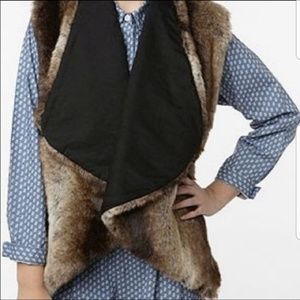 Anthropologie Vasia Faux Fur Vest
